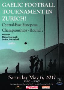 Gaelic Football Tournament in Zürich- Central-East European Championships-Round 2 @ Milandia,  Migros Sport- und Erlebnispark | Greifensee | Zürich | Switzerland